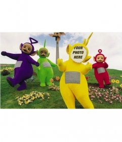 Photomontage of the Teletubbies to edit and put your face