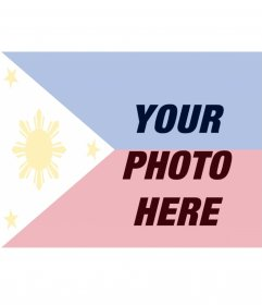 Photomontage to paint a face or picture with the flag of the Philippines, just