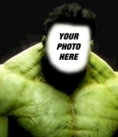 Photomontage of Incredible Hulk