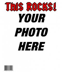 Become a rock star, creating a personalized cover with your picture in the magazine THIS ROCKS!