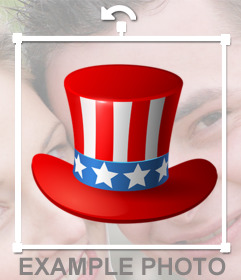 Uncle Sam hat to add on your photos as online sticker
