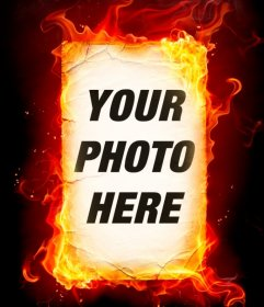 Photo montage of fire that you can do with your photos online
