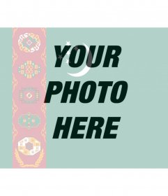 """Photo effect to merge the country""""s flag of Turkmenistan along with the photo you upload"""
