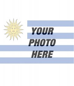 Photomontage to put your photo along with the flag of Uruguay.