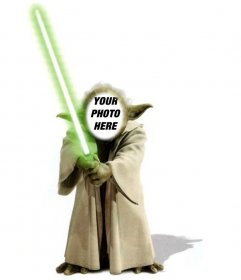 Template for Photomontage of Yoda from Star Wars