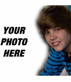 Template Emblies And Por Celebrities Upload Your Photo Put It Next To Justin Bieber Canadian Pop Singer Teaches This Collage Friends