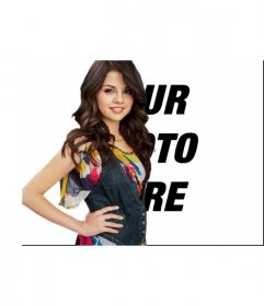 Photo effect to be with Selena gomez uploading your photo