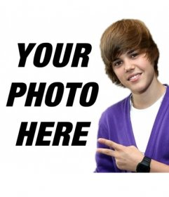 Photomontage to take a picture with Justin