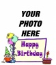 Birthday card for a child to put a picture background