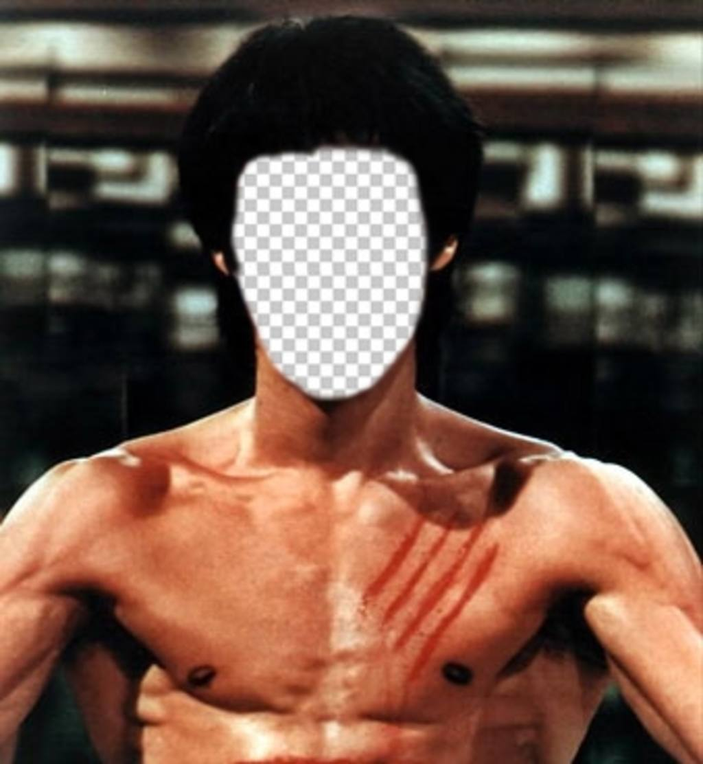Put your face on the body of Bruce Lee with this online photomontage
