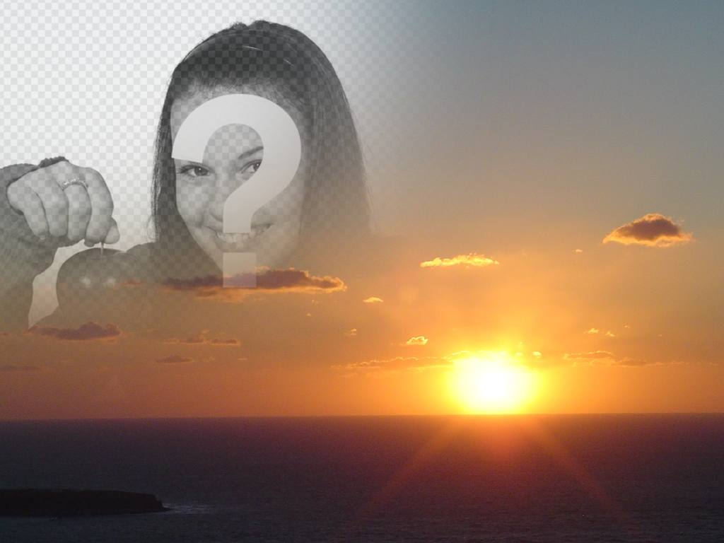 With this montage, you can edit a sunset on the coast, making a collage with a cut of your photo. Ideal for faces
