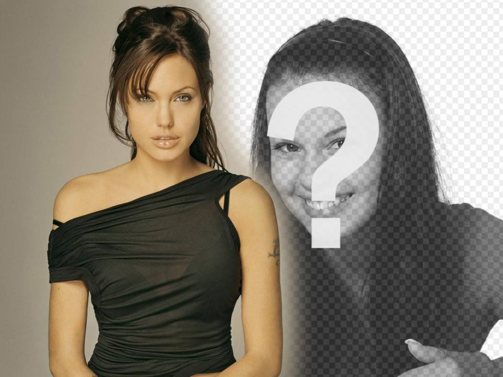 Photomontage with Angelina Jolie to appear at his side