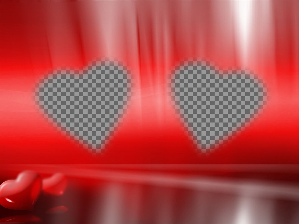 Romatico photo where you put your two pictures in a heart-shaped frames