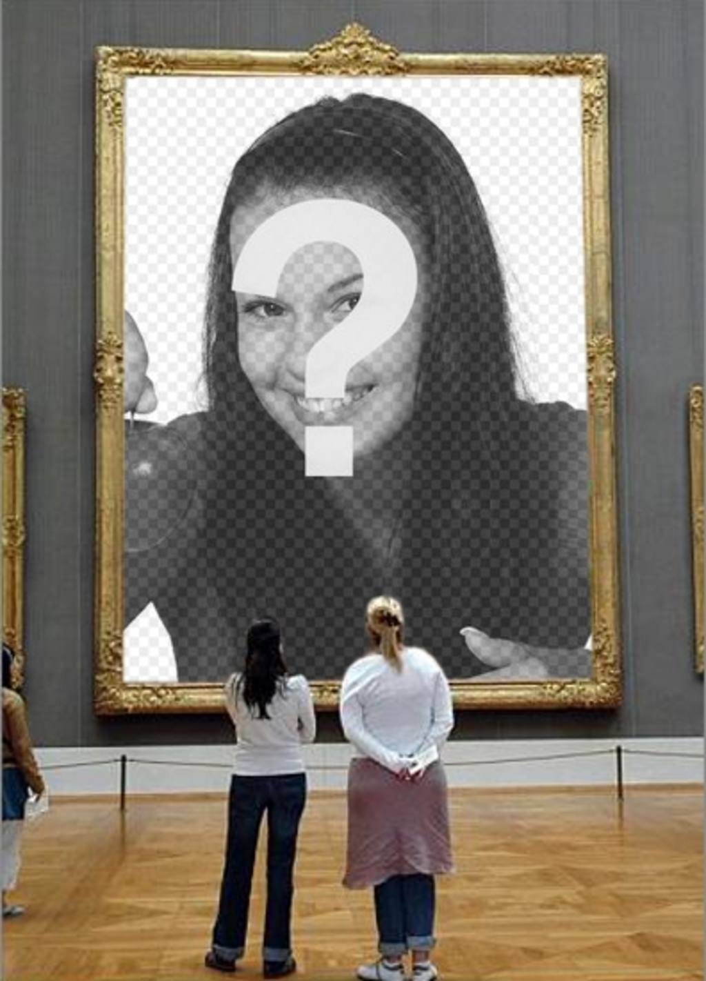 Photomontage to put your picture in a picture of a museum observed by two girls