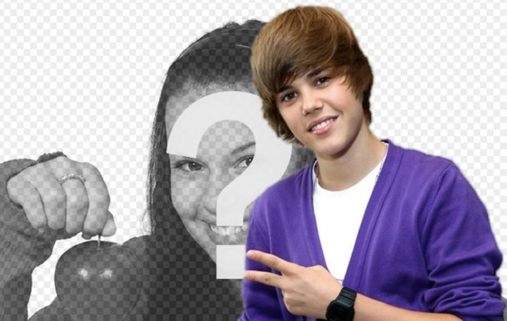 Photomontage to take a picture with Justin Bieber