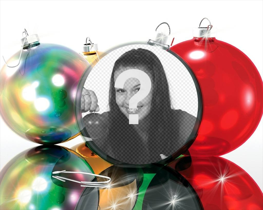 Christmas Photo effect to put your picture on a Christmas ball, very funny