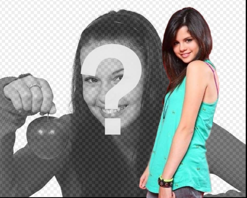 Photomontage with Selena Gomez, upload your picture and make your photo effect