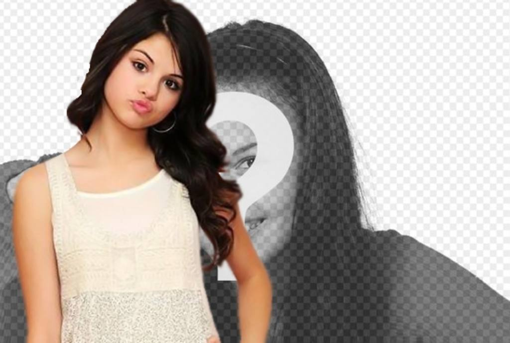Make a montage along with singer Selena Gomez. photomontage along with Selena, upload your photo and surprise your friends!