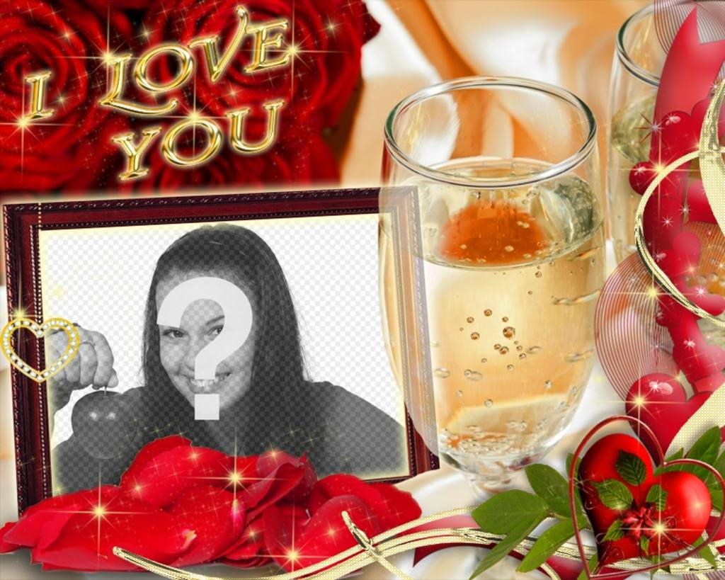 Card for lovers with the text I LOVE YOU
