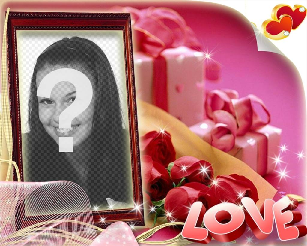 "Valentine""s Day box-shaped and pink background with the text LOVE"