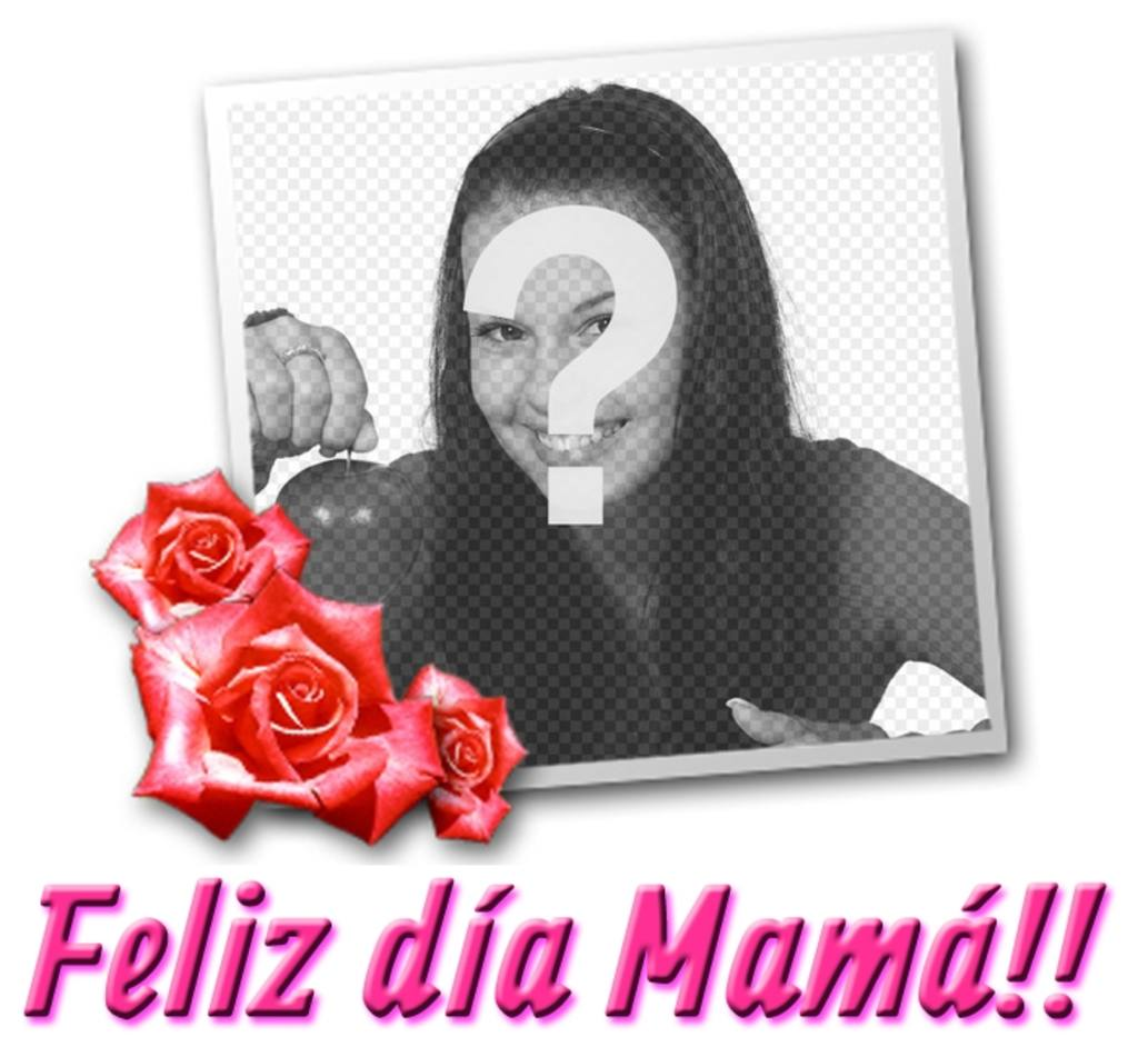 "Card for Mother""s Day with the text TE QUIERO MAMÁ!"