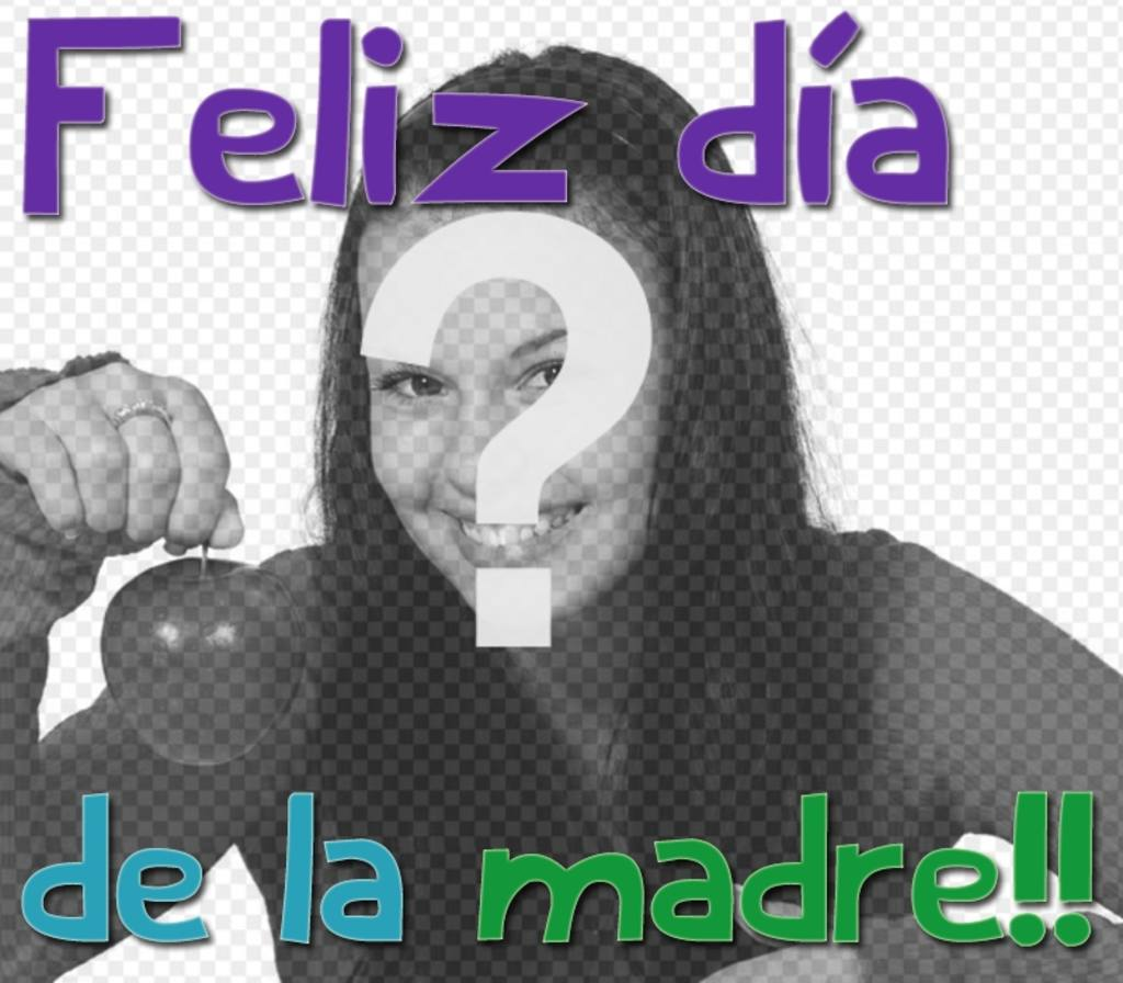 "Greeting card for mother""s day in spanish with text: Feliz día de la madre"