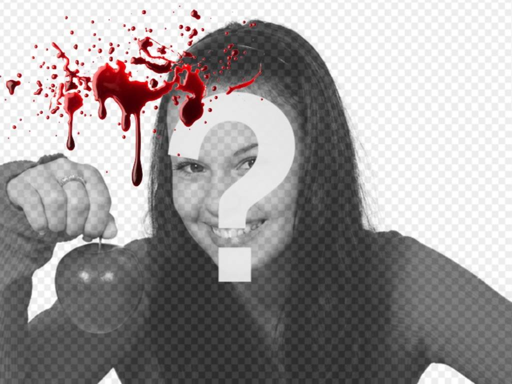 Photo online effect to put in your photos fresh blood effect