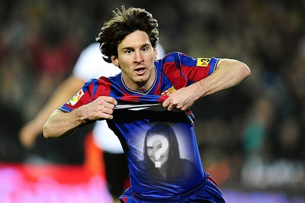 Photomontage to put your picture on the shirt of Leo Messi