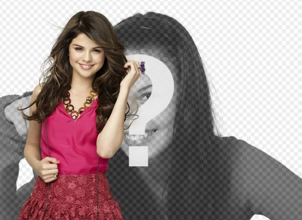 Mount pictures to post a photo along the famous actress and singer Selena Gomez