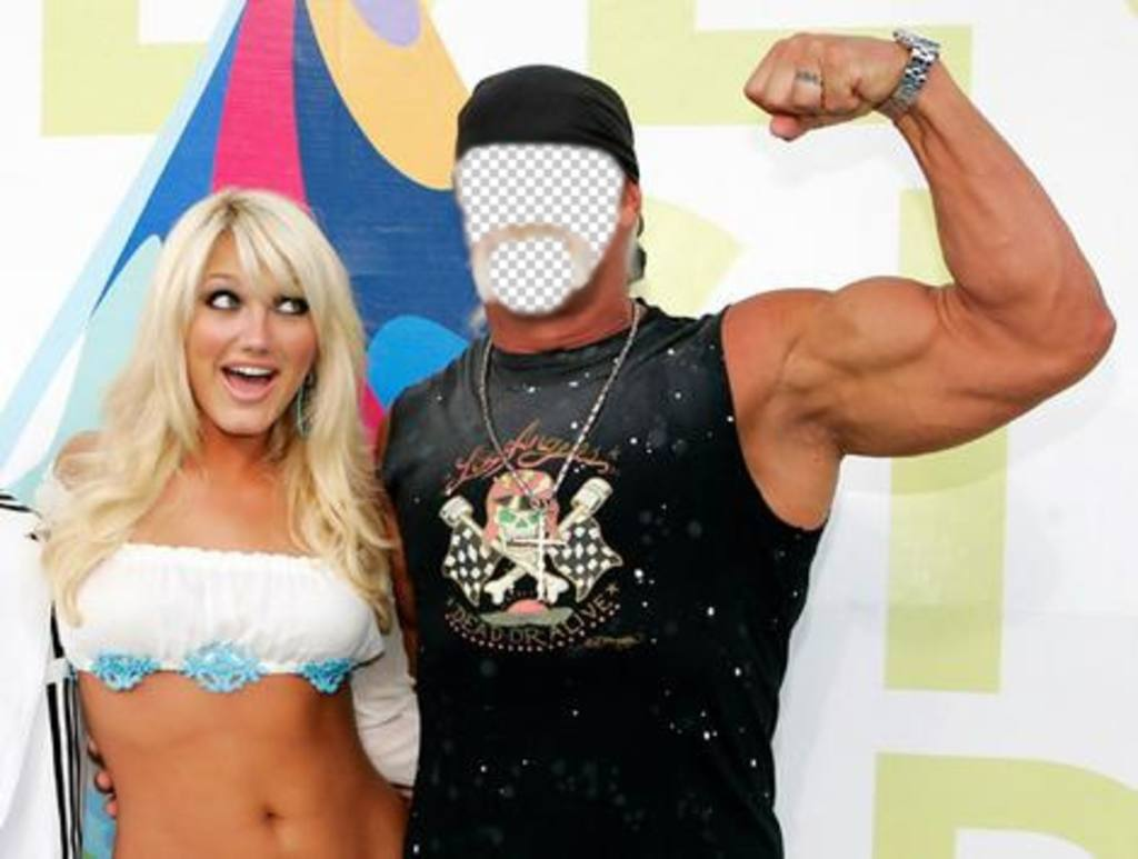 If you want to be Hulk Hogan this is your photomontage of the famous fighter