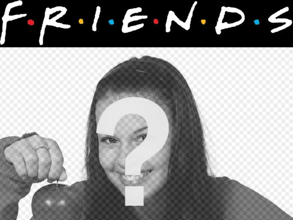 Put The Logo Of The Famous Television Serie Friends In Your Photo Perfect