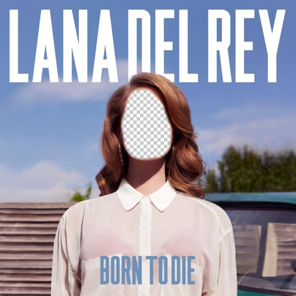 Photomontage with the album cover Born to Die of the singer Lana del Rey