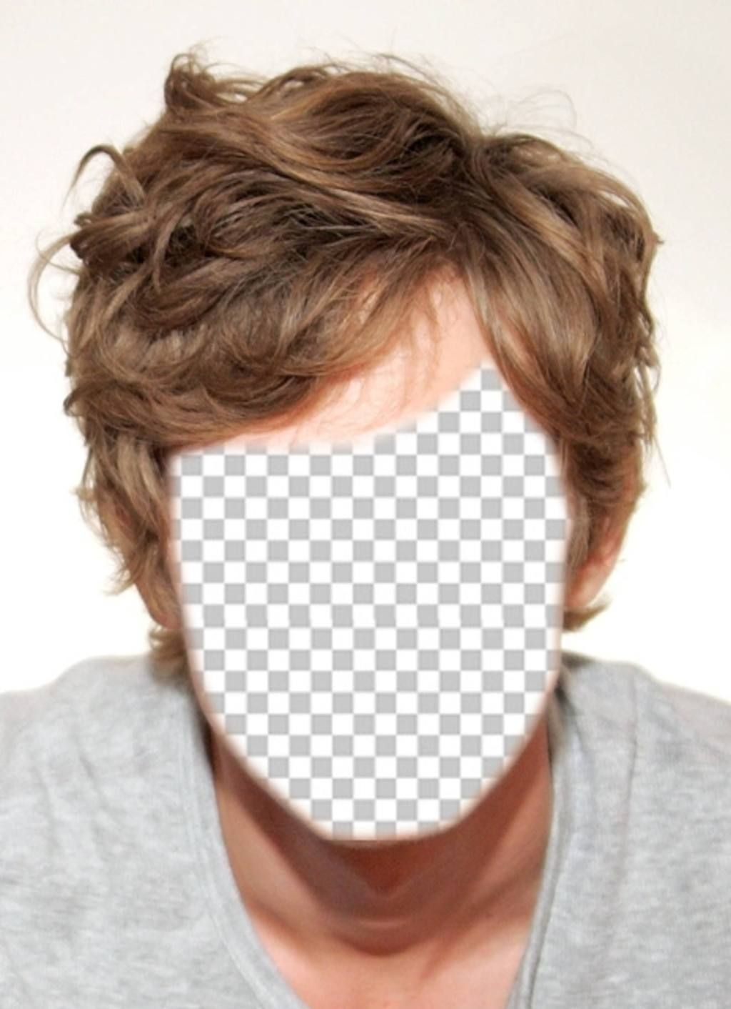 Free photomontage for men and to change the hair to blond
