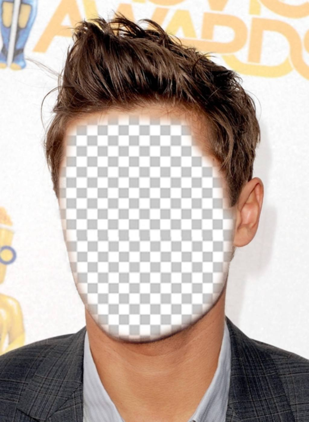 Change of hairstyle like Zac Efron with this online photomontage