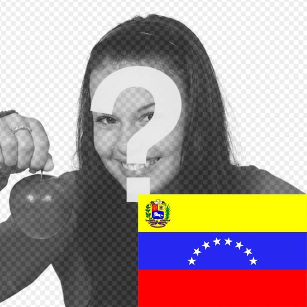 Photo montage to put the flag of Venezuela in your photo