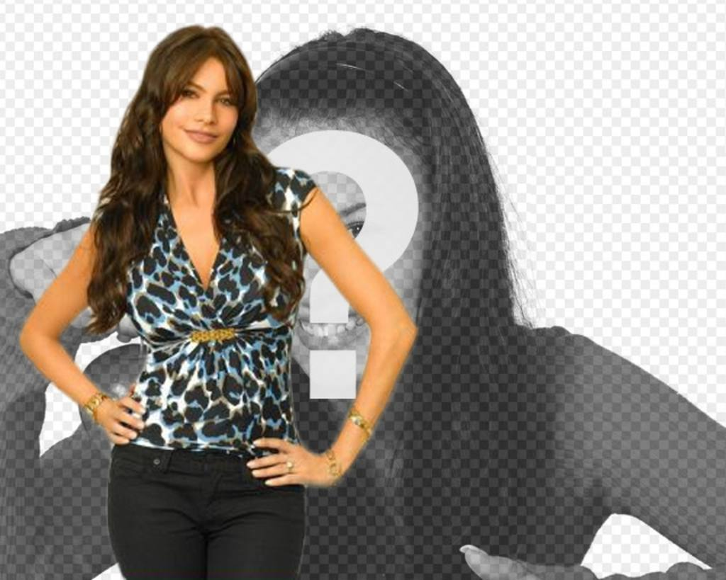 """Photomontage with Sofia Vergara of Modern Family TV Show. Now you can appear in a photo with the actress and Colombian model considered one of the world""""s sexiest women"""