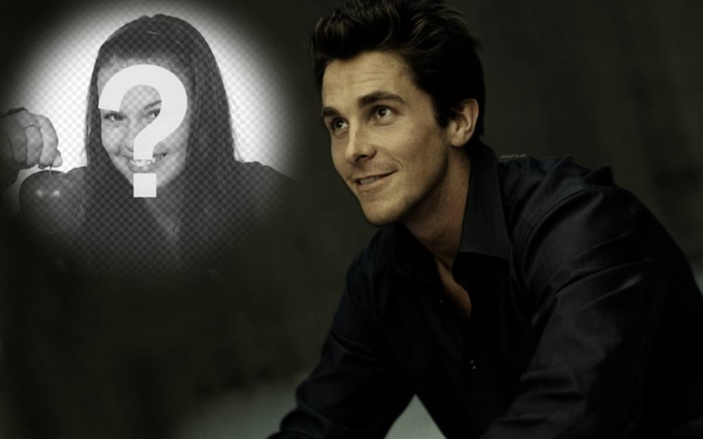 Photomontage with Christian Bale, the last Batman to put your photo