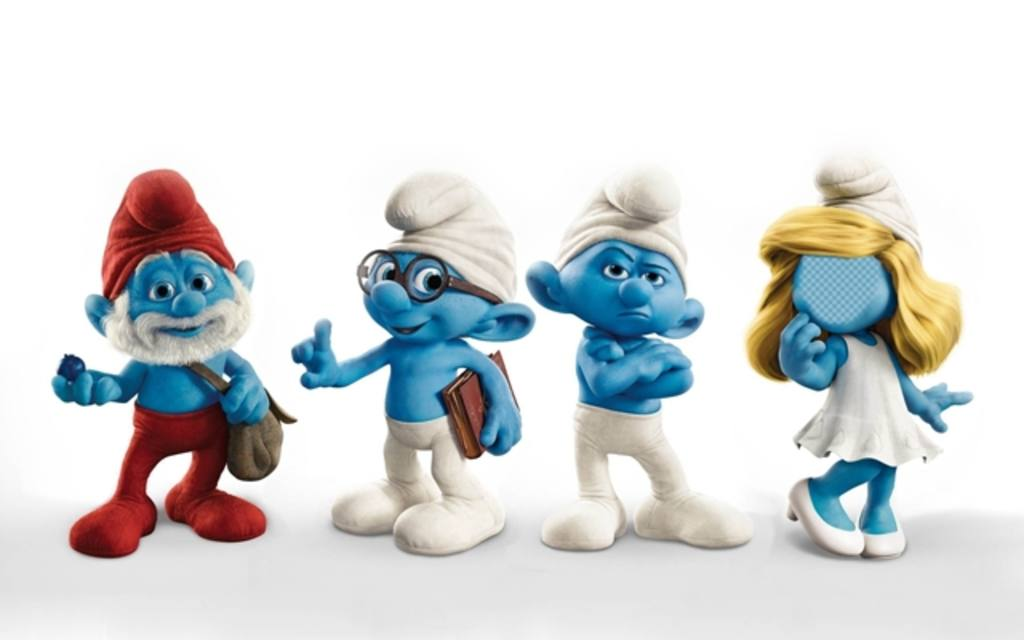 Your face in the face of Smurfette with this funny mounting