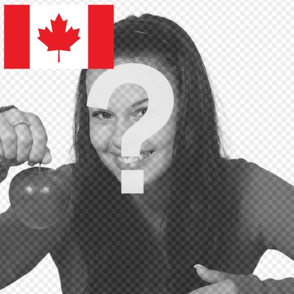 The Canada flag in your profile picture with this free photomontage