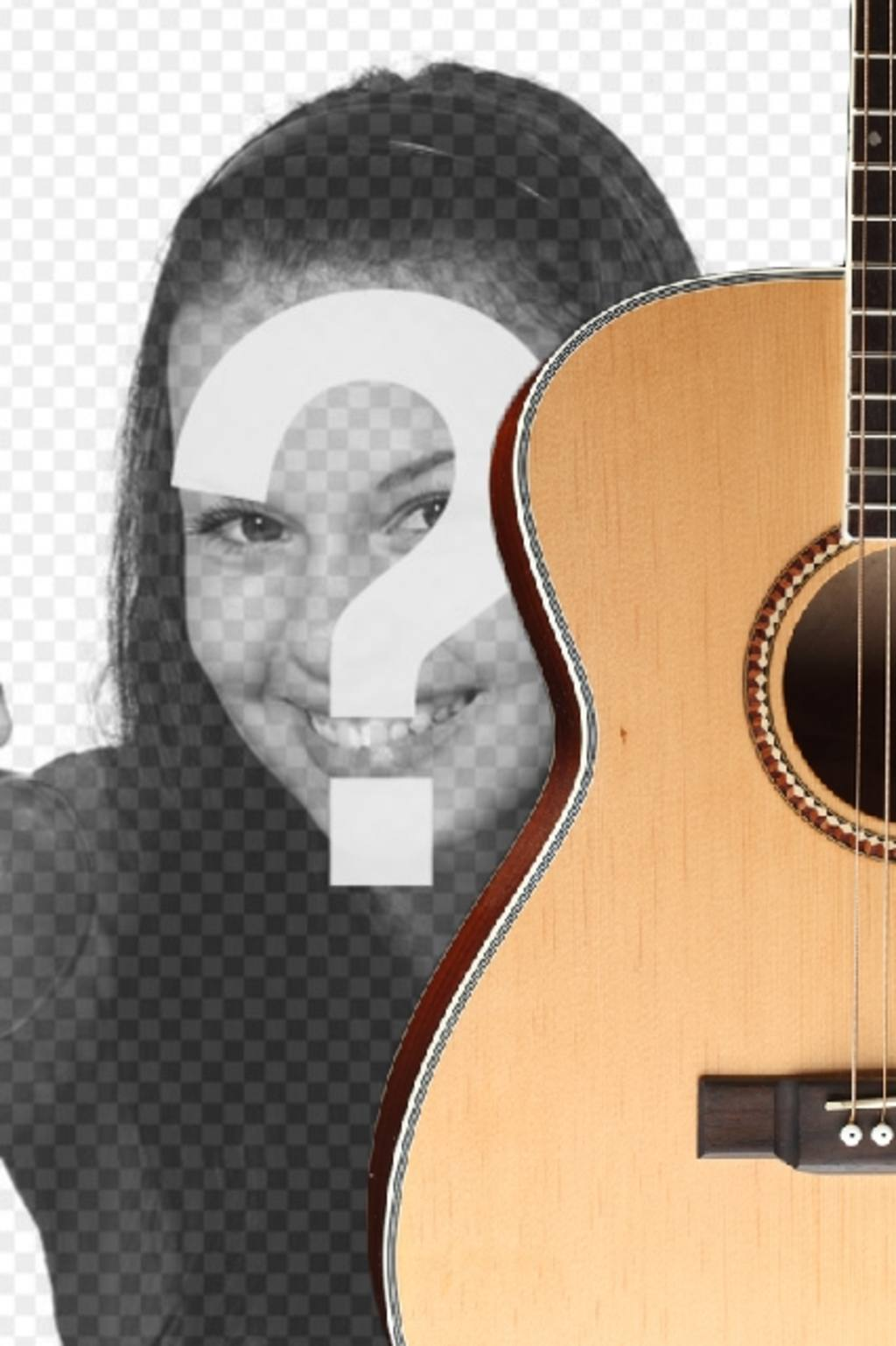 Photomontage to put a Spanish guitar in a photo and add text online