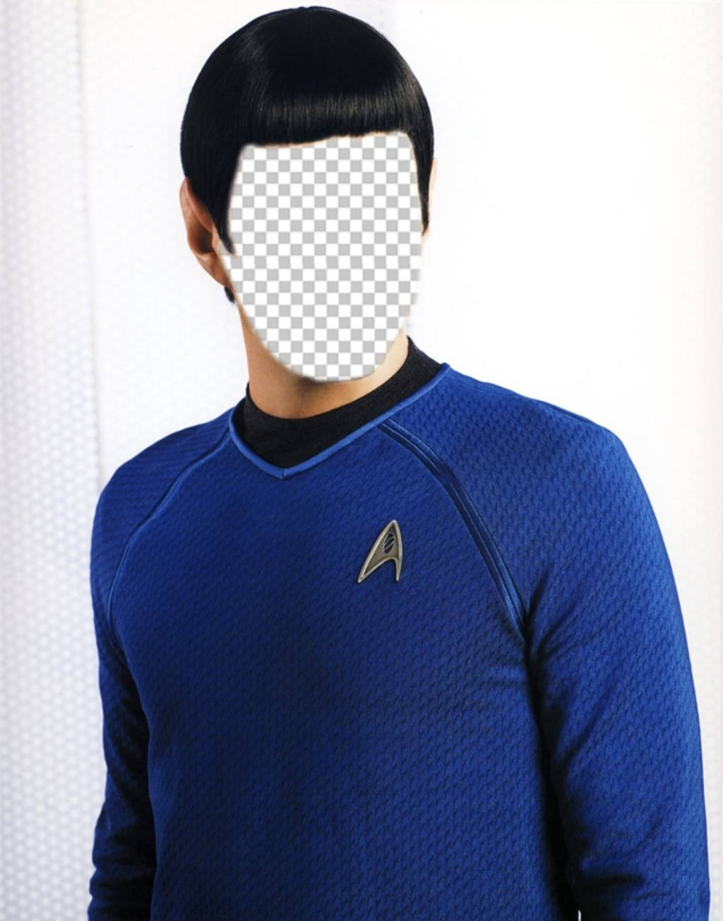 Become in Spock of Star Trek with this photomontage online