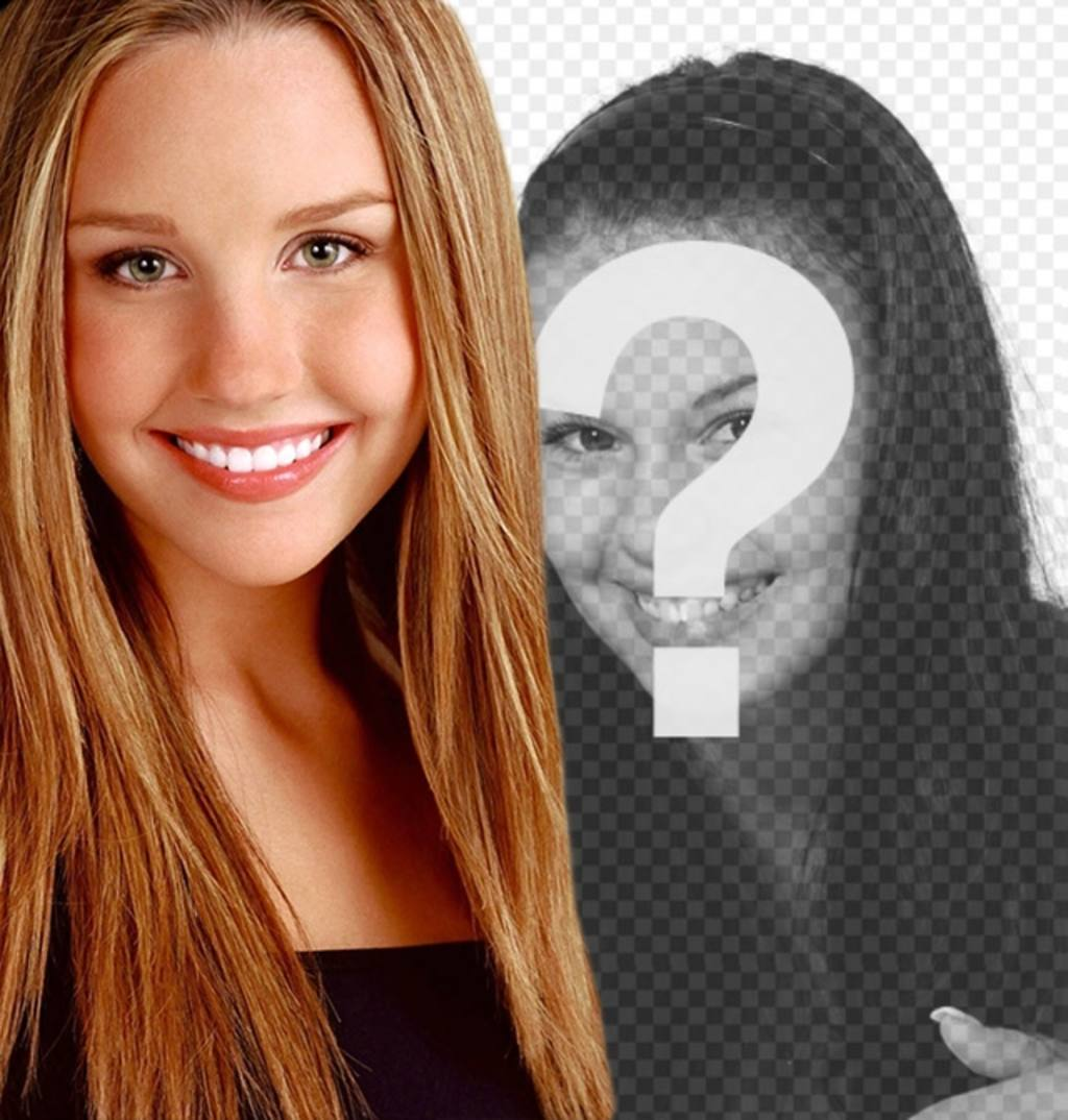 Create photomontages with Amanda Bynes before her transformation where you can also create a phrase with the typography and the color you choose