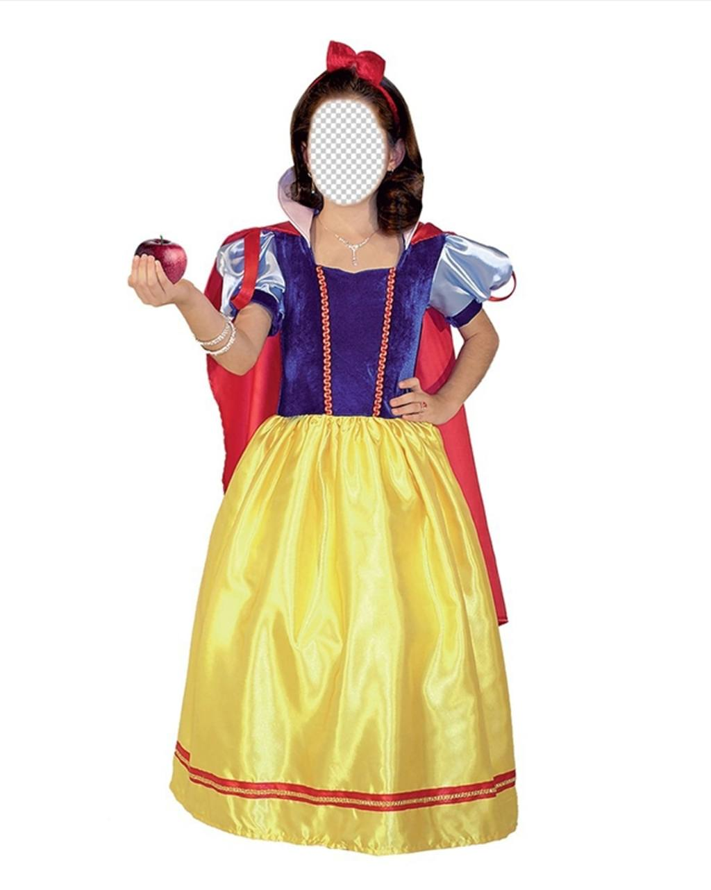 Photomontage of Snow White to put your face online