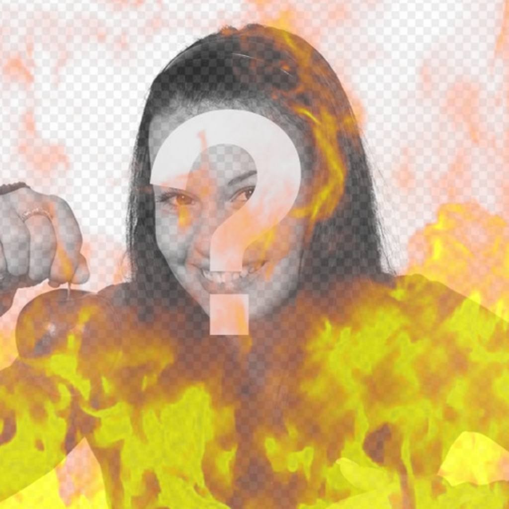 Photo Filter to simulate a picture burning in flames of fire
