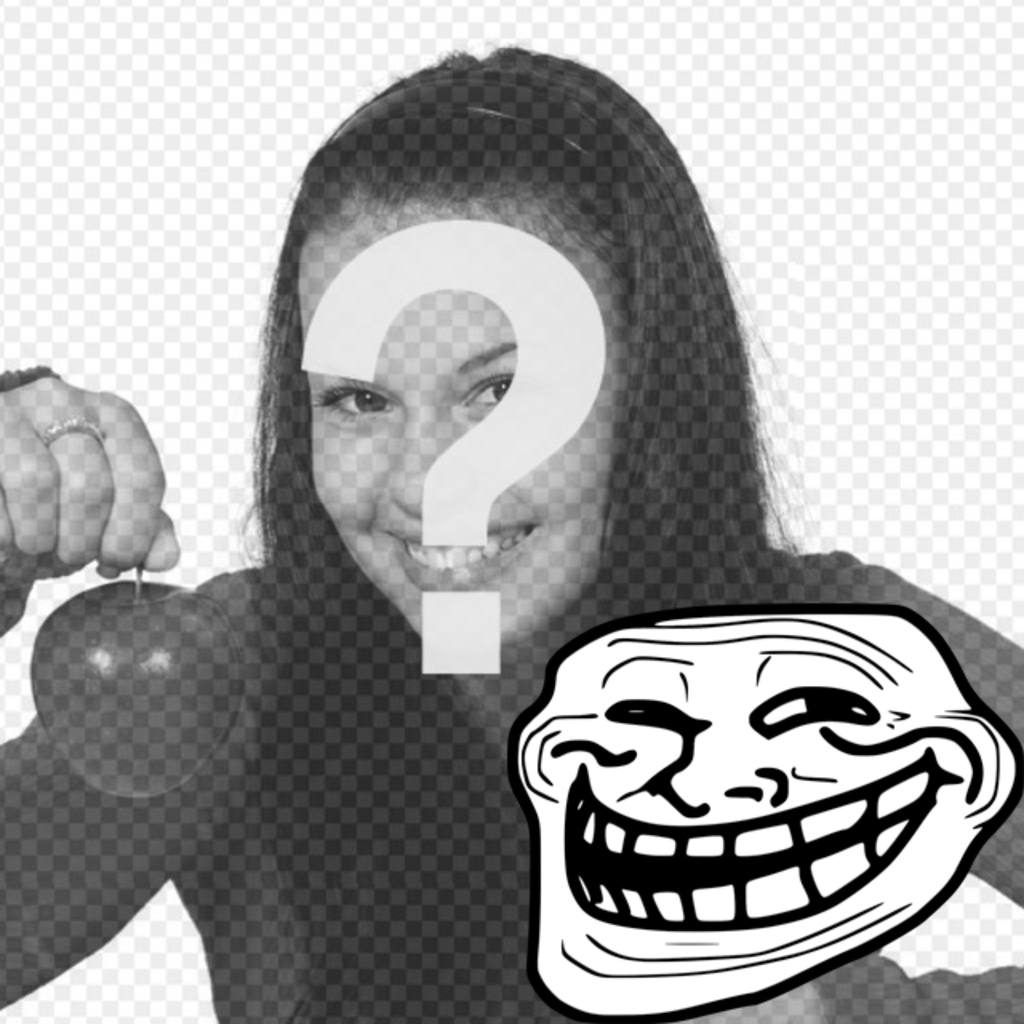 Photomontage to put the Troll Face Meme with your photo