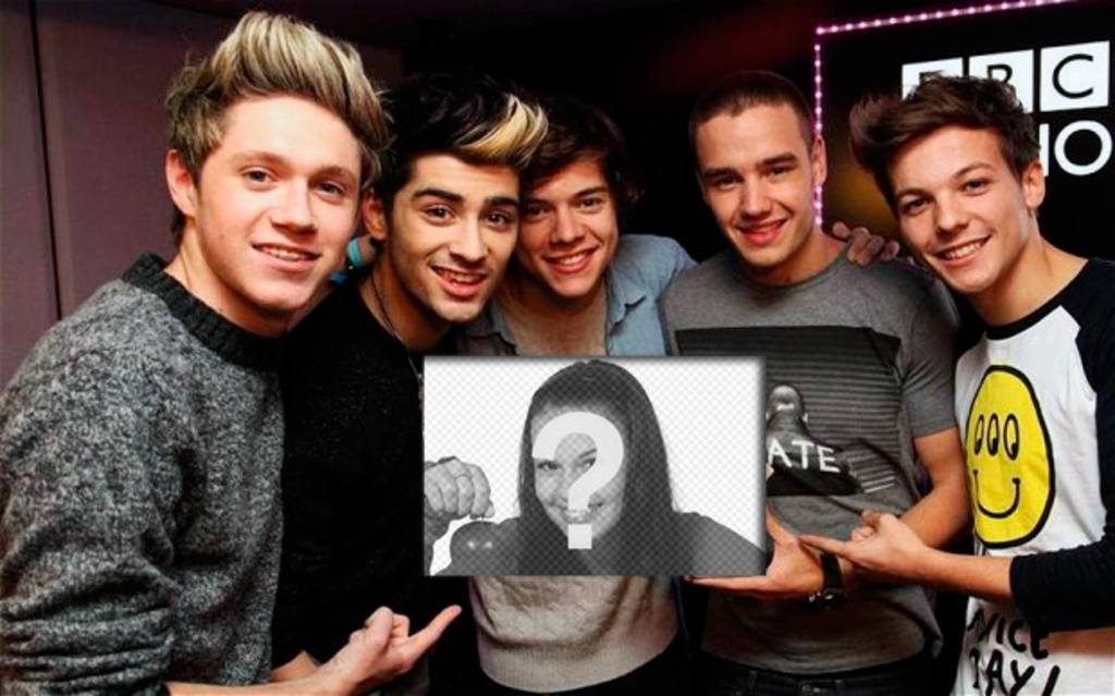 One Direction are your biggest fans, evidenced by holding your picture in this photo montage