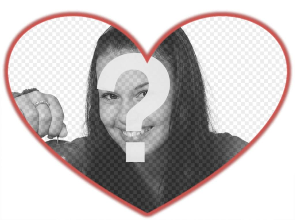 Mask for photos with heart shape and red border which you can add a background image
