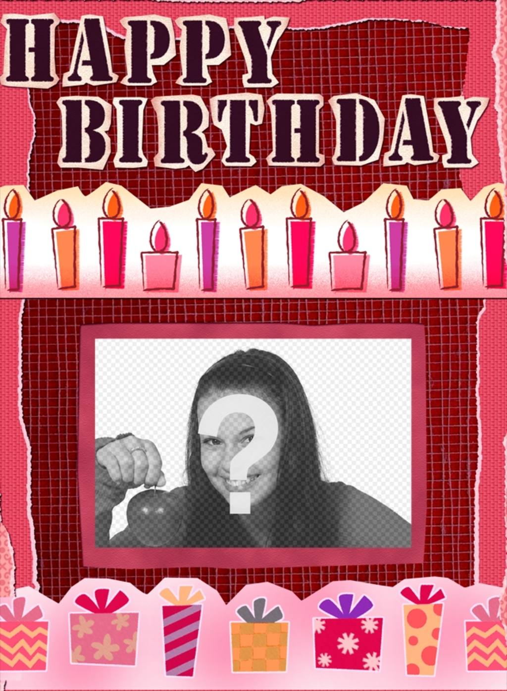 Birthday Card To Make Online And Add A Photo At Background