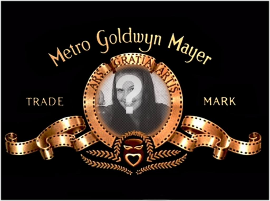 Photo montage to put your picture in the logo of Metro Goldwyn Mayer