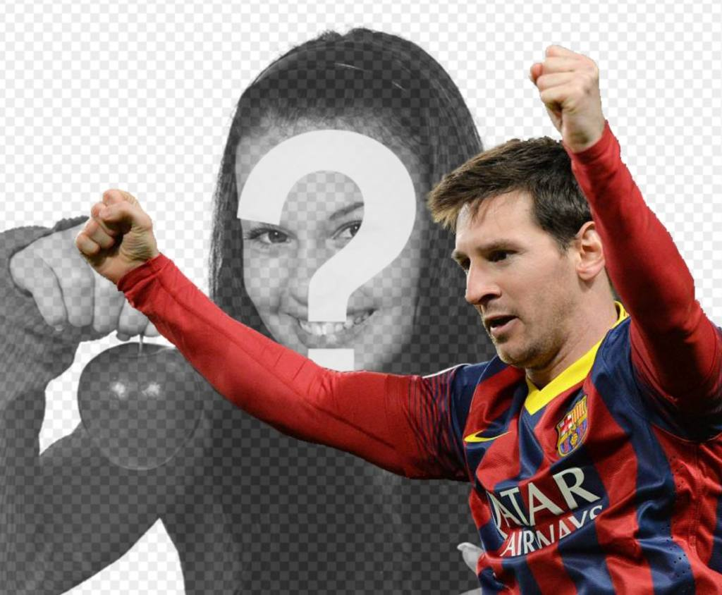 Photomontage with Messi Barca to put your photo